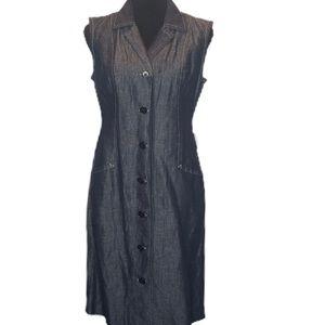 Denim Button up Talbots Dress.           D099